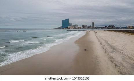 Revel Atlantic City Aerial Shot from Brigantine Beach