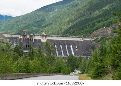Revelstoke Dam, a hydroelectric dam in British Columbia, Canada