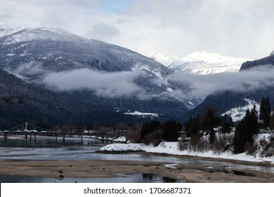 Revelstoke mountains in the winter