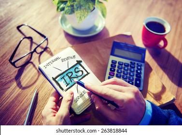 Revenue Service IRS Finance Taxation Government Concept