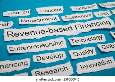 Revenue-based Financing Text On Piece Of Paper Salient Among Other Related Keywords