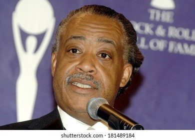 Reverend Al Sharpton in the press room for Induction Ceremony Rock and Roll Hall of Fame, Waldorf-Astoria Hotel, New York, NY, March 12, 2007