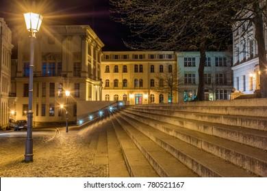 Reverend University of Halle Saale at night