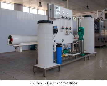 Reverse osmosis system - installation of industrial membrane devices
