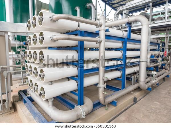 Hệ thống thẩm thấu ngược cho nhà máy điện.