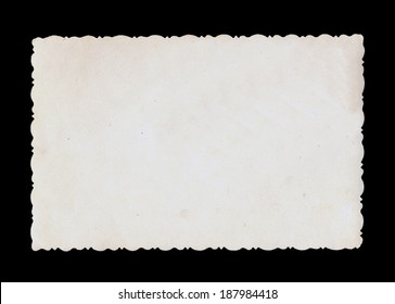 Reverse side of an old photo print with a decorative border.