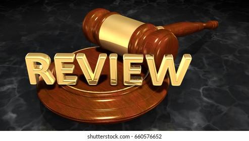 Review Law Concept 3D Illustration