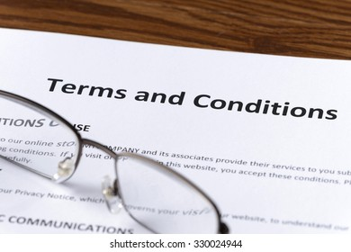 reviewing terms and conditions document