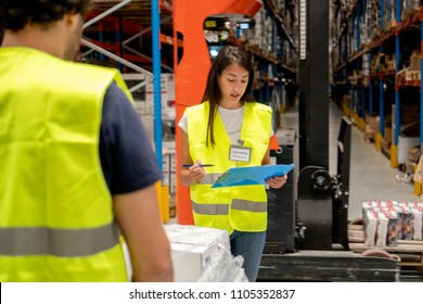 Revision of inventory in warehouse