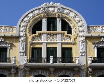 Revival house details in the city of Melilla. Spain.