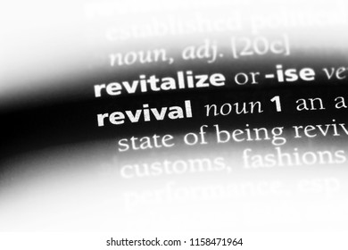 revival word in a dictionary. revival concept.