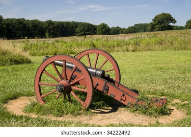 Revolutionary era cannon in Valley Forge National Park