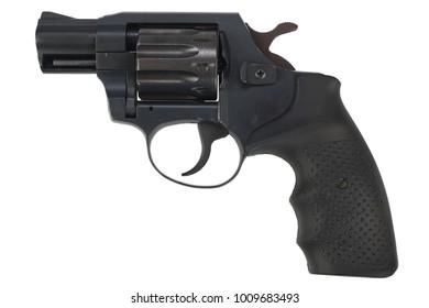 Revolver gun isolated on white background