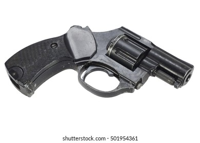 Revolver isolated on a white background