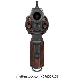revolver nagant M1895 3d illustration