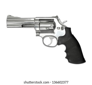 Revolvers isolated on white background