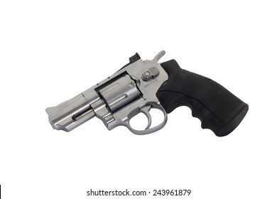 Revolvers on white backgroun