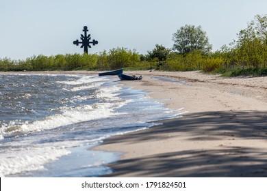 REWA, POLAND - CIRCA MAY 2020: Beautiful view of coast in Rewa at Baltic Sea.circa May 2020 in Rewa.