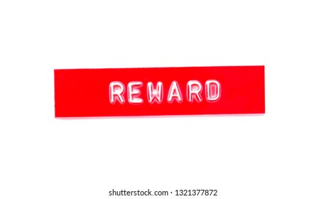 reward embossed word on plastic tape