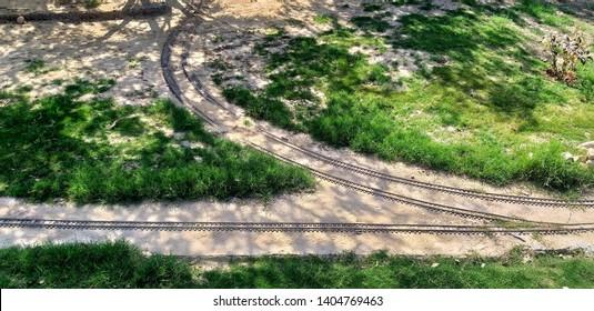 Rewari shed, Rewari, Haryana, India -22 March , 2019 : Miniature of tracks at rewari steam loco museum run by the Railways.