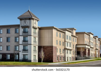 Rexburg, Idaho, USA, Oct. 17, 2014  An upscale student apartment complex near a university.