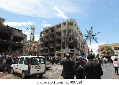 REYHANLI, TURKEY-MAY 13: Death toll rises to lots of people as explosions hit Turkish town Reyhanli on May 13, 2013 in Reyhanli, Turkey.