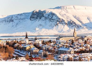 Reykjavik city view of Hallgrimskirkja, Iceland