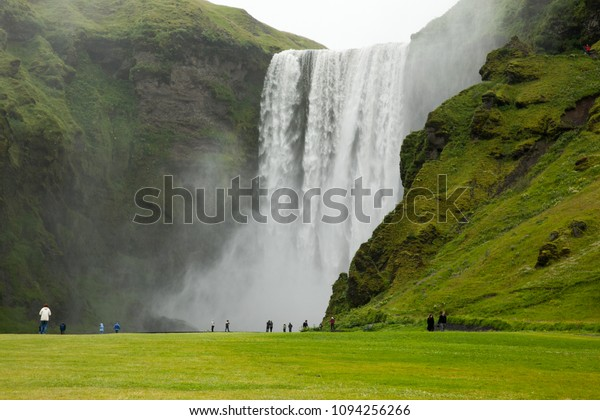 REYKJAVIK, ICELAND – AUGUST 06, 2011: Landscape Waterfall Skogafoss in Iceland.
