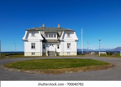 REYKJAVIK, ICELAND - AUGUST, 2017: Hofdi house - location of Reykjavik Summit -   Presidents Reagan and Gorbachev - step to end of Cold War.