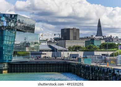 Reykjavik, Iceland - Circa July 2016 - Reykjavik