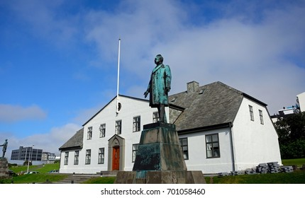 REYKJAVIK, ICELAND - JULY 25: Presidential office on 25 July 2017 at Reykjavik. Iceland has a presidential democratic system.