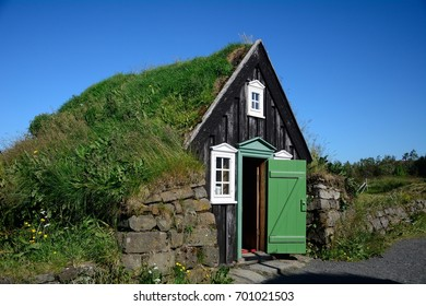 REYKJAVIK, ICELAND - JULY 26: Open-air museum on 26 July 2017 at Reykjavik. Reykjavik has a  lovely skanzen in the outskirts of the town.