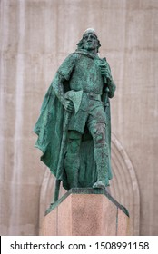 REYKJAVIK, ICELAND - MAY 12, 2019: Leifur Eiriksson statue.
