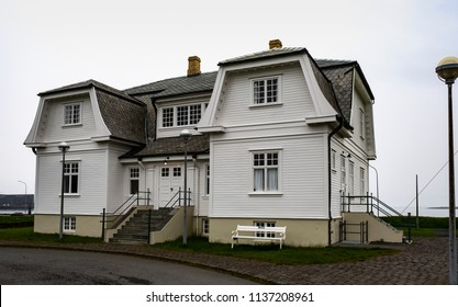Reykjavik, Iceland - May 26, 2018: Hofdi, the official reception house of the city of Reykjavik Iceland. This is the place where Gorbachev and Reagan met in their 1986 meeting. One of the most beautif