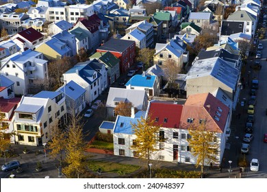 REYKJAVIK, ICELAND - OCTOBER 11th, 2014. Reykjavik, the capital city of Iceland on October 11th, 2014.