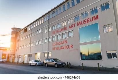 REYKJAVIK,ICELAND/NOVEMBER 01,2017: The museum of modern art