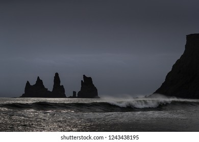 Reynisdrangar stacks in Iceland