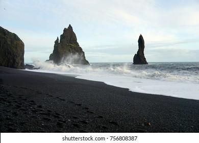 Reynisfjara black sand beach near Vik
