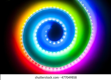 RGB LED Light Strip Bokeh Background