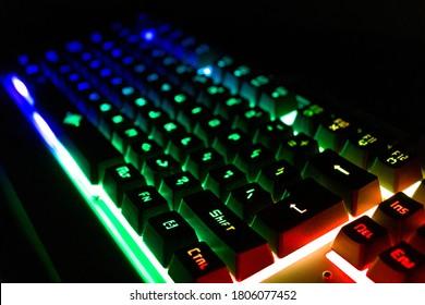 RGB Mechanical Gaming Keyboard PC Enthusiast Keyboard Gamer Using