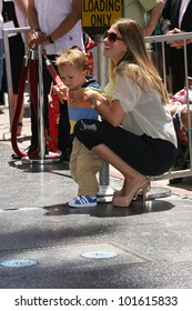 Rhea Durham and son Brendan at Mark Wahlberg's Star Ceremony on the Hollywood Walk Of Fame, Hollywood, CA. 07-29-10