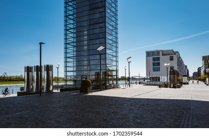 The Rheinauhafen is a former port facility in Cologne's southern city, which is now used as a residential, office, service and commercial area.