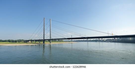 The Rheinknie bridge over the Rhine at Dusseldorf, Germany