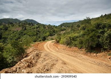 Rhi Village near the Indian border in Chin State, Myanmar (Burma)