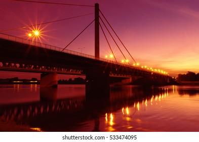 Rhine bridge Karlsruhe