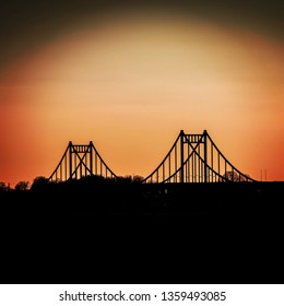 Rhine Bridge Krefeld