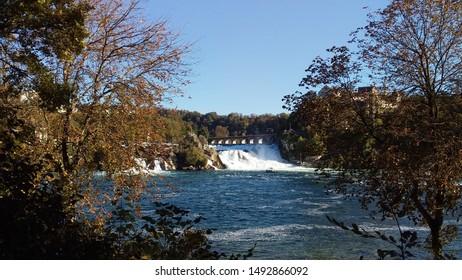 The Rhine Falls in autumn, Schaffhausen, Switzerland