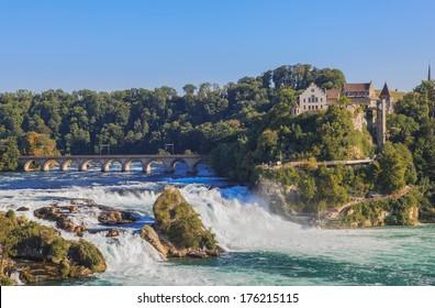 Rhine Falls and castle Laufen, Switzerland