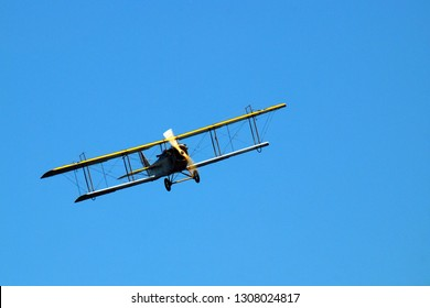 Rhinebeck, NY, USA A Curtiss JN 4H 12 soars through the sky during a demonstration in Rhinebeck, New York