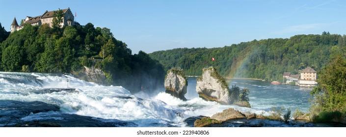 Rhinefall waterfall at Neuhausen on Switzerland